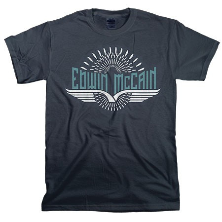 Edwin McCain Navy Wings Tee
