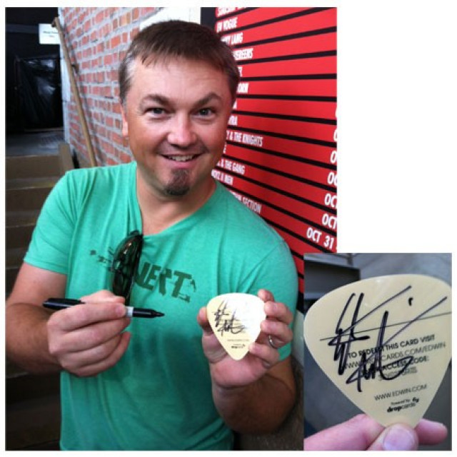 Edwin McCain AUTOGRAPHED Dropcard- Live Versions