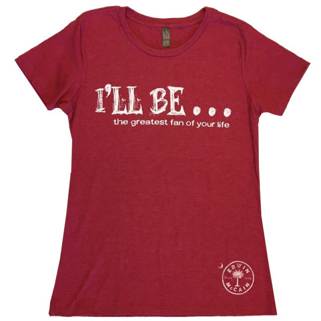 Edwin McCain Ladies Heather Red Tee